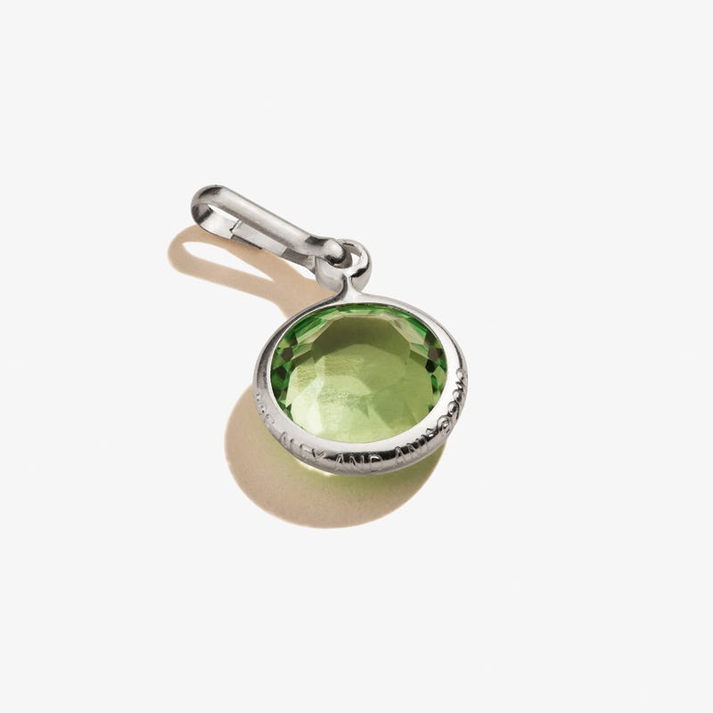 August Peridot Birthstone Charm, .925 Sterling Silver, Alex and Ani