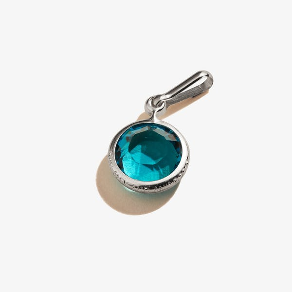 December Blue Zircon Birthstone Charm, .925 Sterling Silver, Alex and Ani