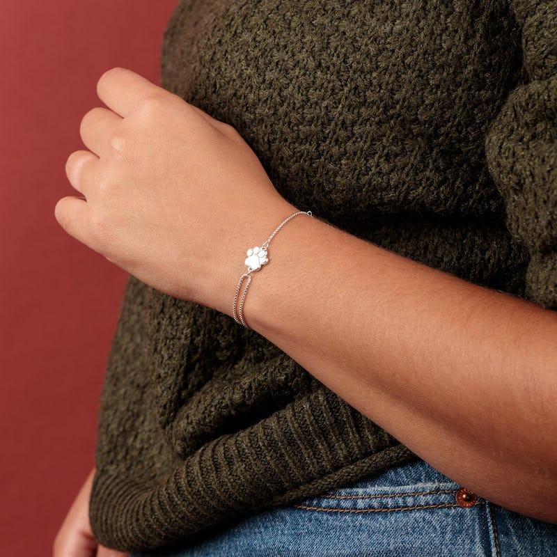 Paw Print of Love Pull Chain Bracelet