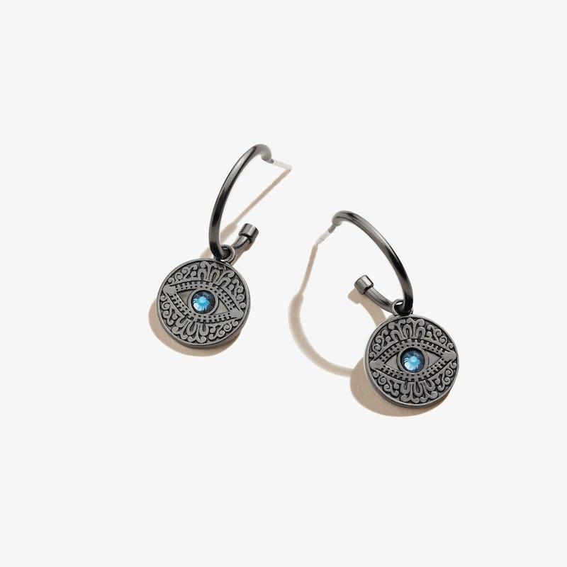 Pavé Evil Eye Huggie Hoop Earrings