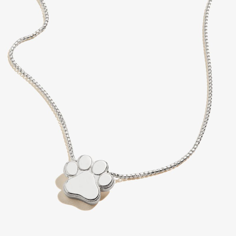 Paw Print of Love Necklace, .925 Sterling Silver, Alex and Ani