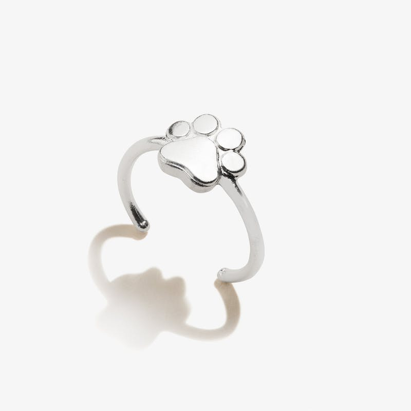 Paw Print of Love Ring, .925 Sterling Silver, Alex and Ani