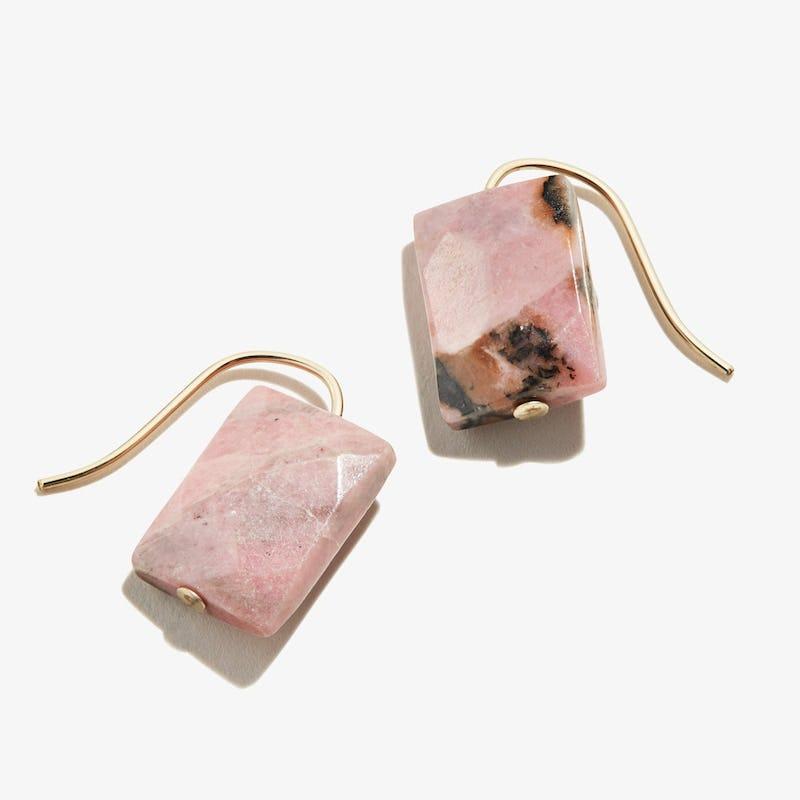 Rhodonite Gemstone Earrings