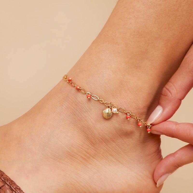 Seashell Anklet
