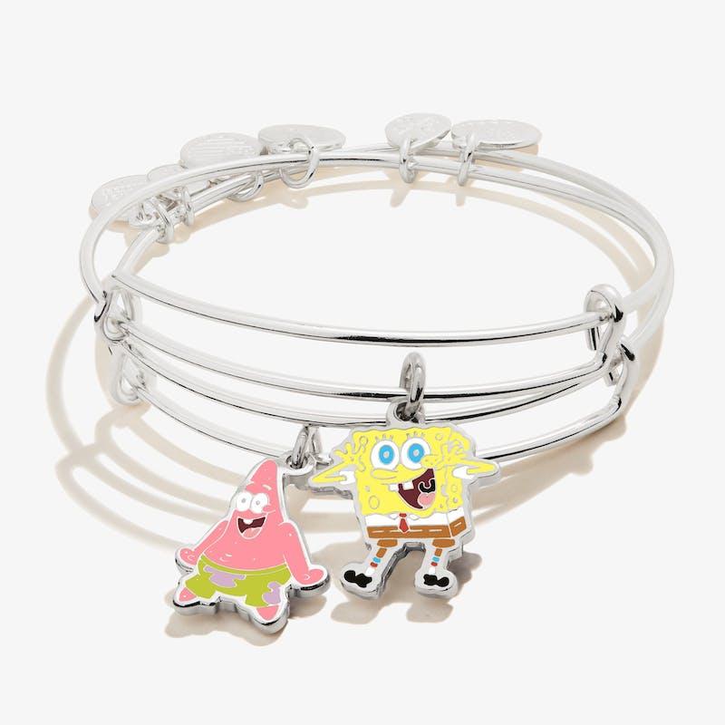 SpongeBob + Patrick BFF Charm Bangles, Set of 2