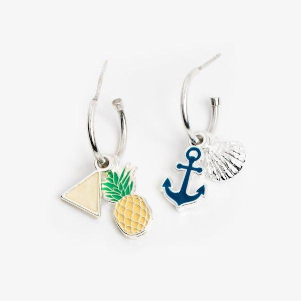Tropical Hoop Earrings I