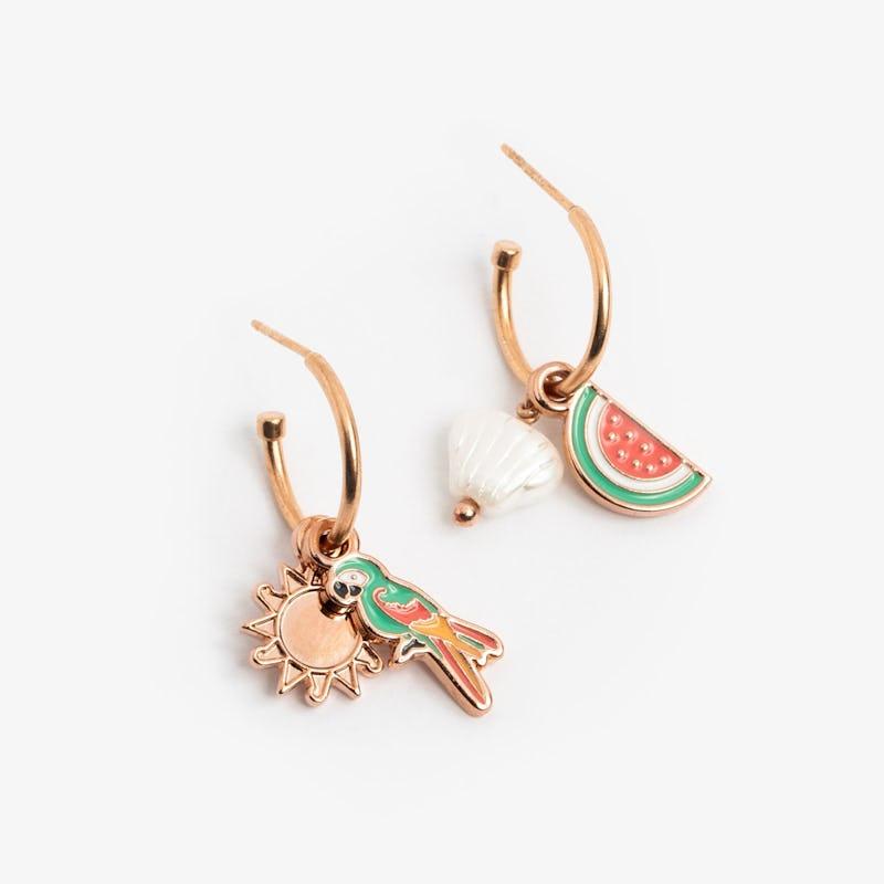 Tropical Hoop Earrings III