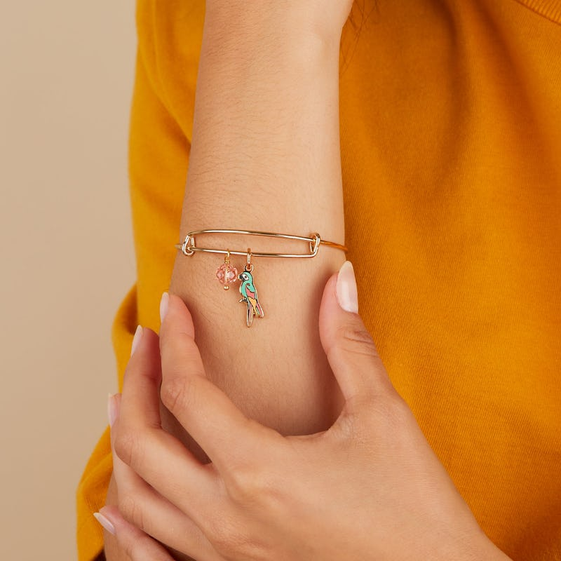Tropical Parrot Duo Charm Bangle