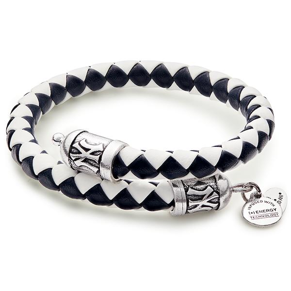 New York Yankees MLB Braided Leather Wrap Bracelet