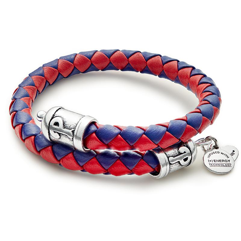 Philadelphia Phillies MLB Braided Leather Wrap Bracelet
