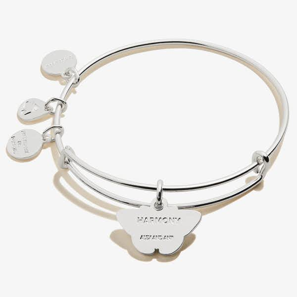 White Admiral Butterfly Charm Bangle