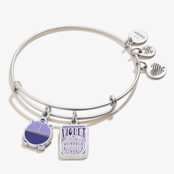 Willy Wonka 'Violet' Duo Charm Bangle