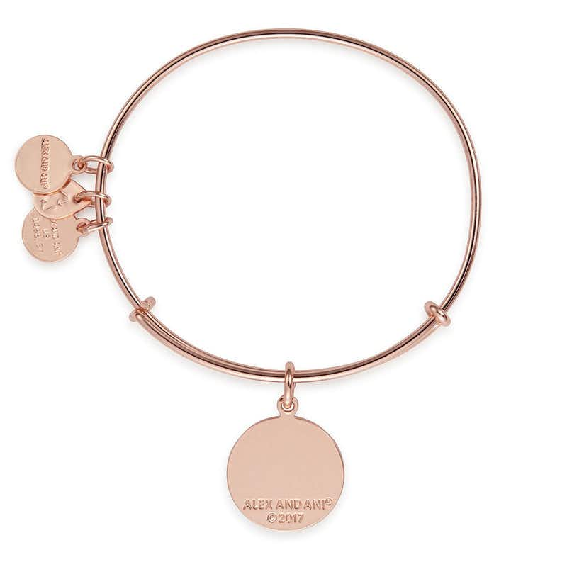 'What Is For You Will Not Pass You' Charm Bangle, Rose Gold