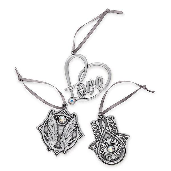 Godspeed, Hamsa + Love Holiday Ornaments, Set of 3