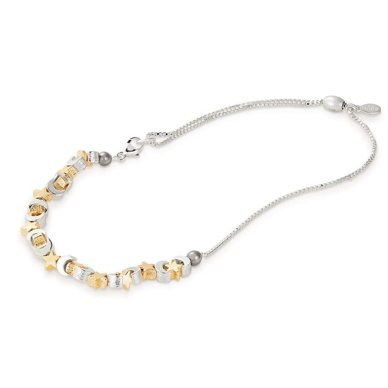 Moon + Star Charm Anklet