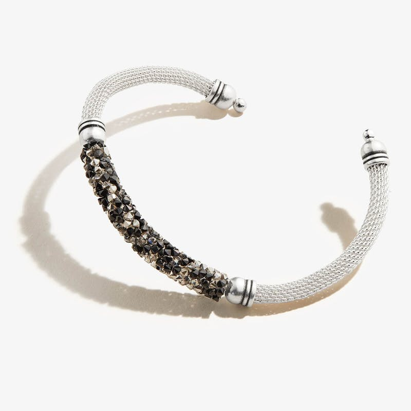 Black + White Mesh Cuff Bracelet