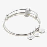 Pavé Cross Bead Charm Bangle