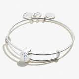 Pavé Cross Bead Charm Bangle, Shiny Silver, Alex and Ani