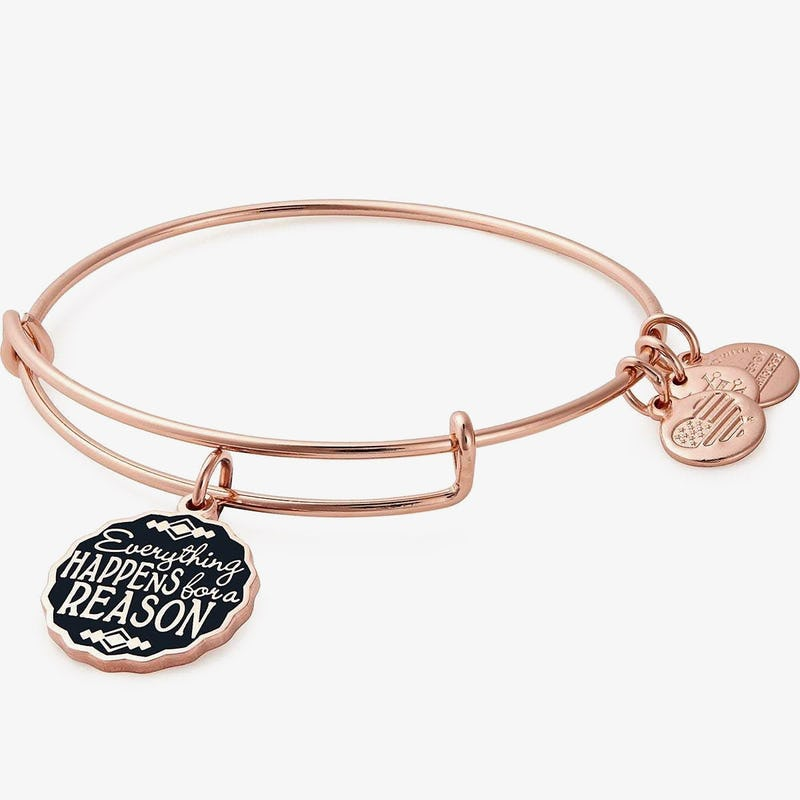 Everything Happens for a Reason' Charm Bangle, Shiny Rose Gold, Alex and Ani