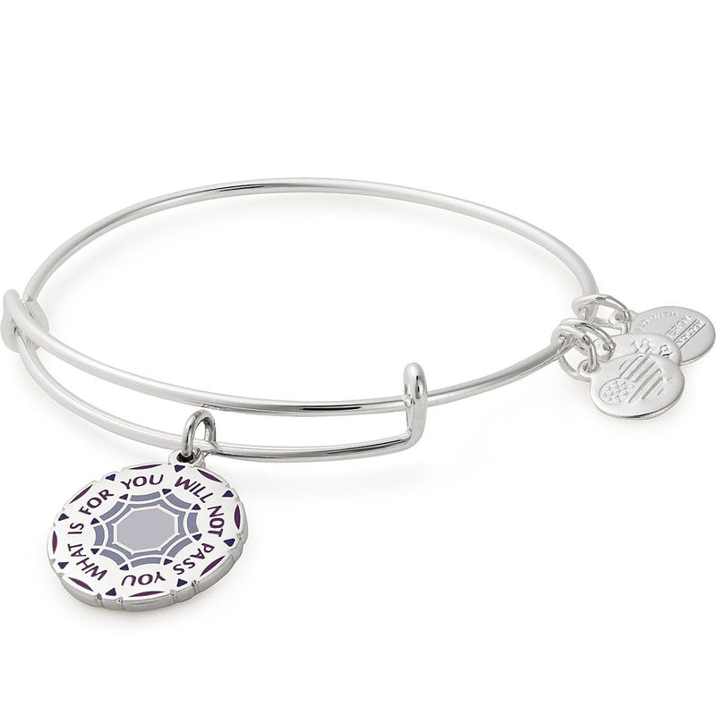 'What Is For You Will Not Pass You' Charm Bangle, Silver, Alex and Ani