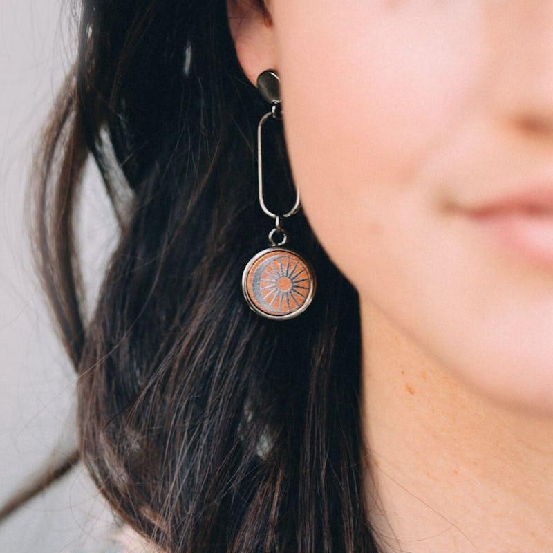 Cosmic Balance Drop Earrings