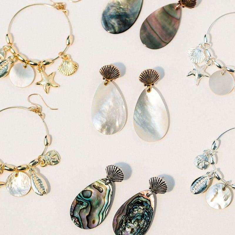 Abalone Shell Statement Earrings