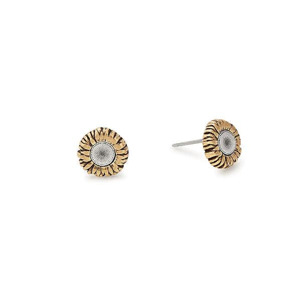 Sunflower Stud Earrings, Rafaelian Gold, Alex and Ani