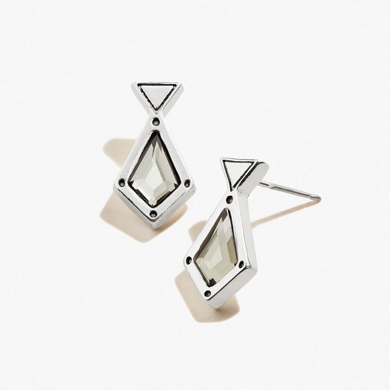 Black Crystal Stud Earrings