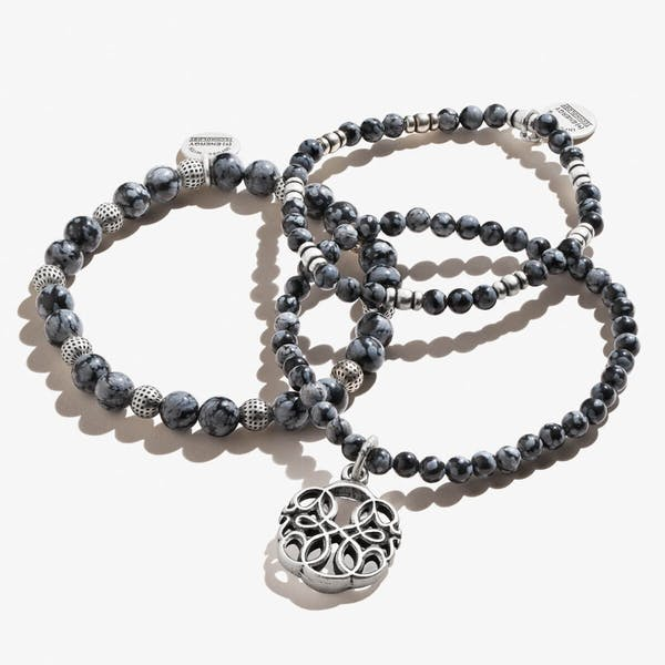 Path of Life® Charm Beaded Stretch Bracelets, Set of 3