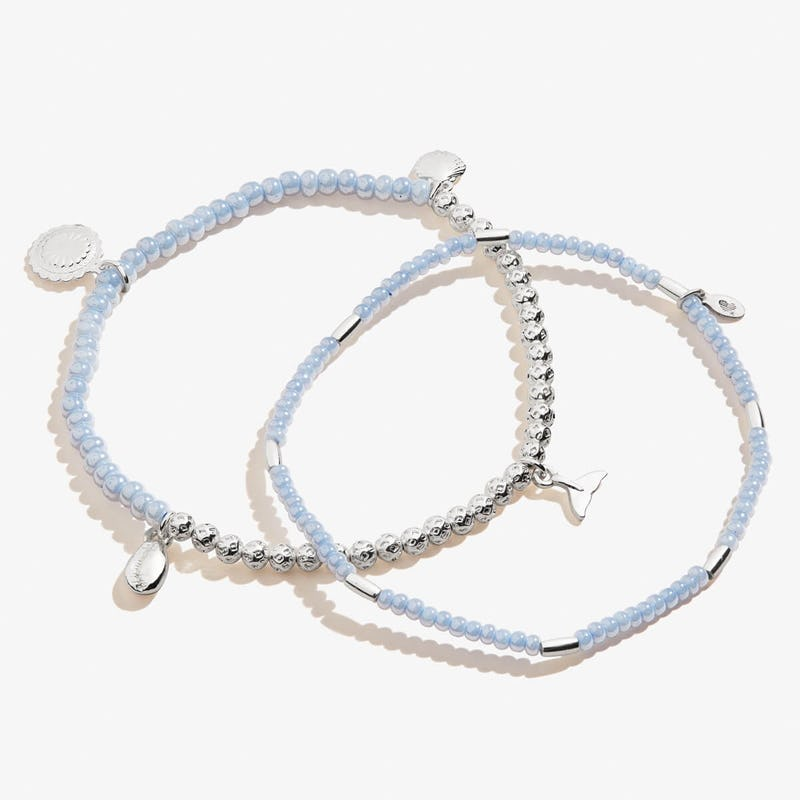 Whale Tail Stretch Anklets, Set of 2