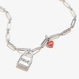 'True Love' Lock & Heart Charm Necklace