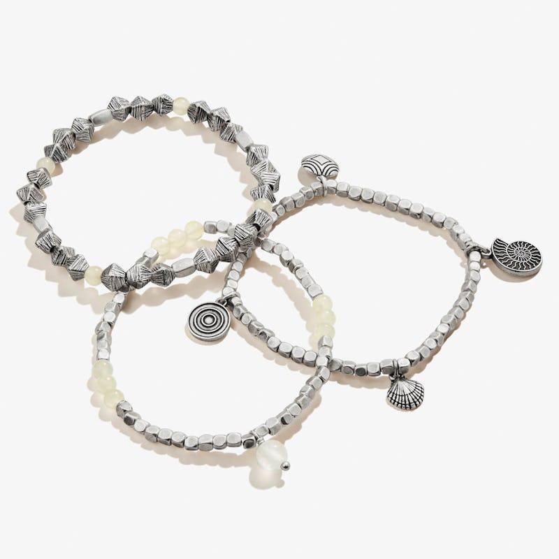 Nautilus + Ocean Beach Multi-Charm Stretch Bracelets, Set of 3