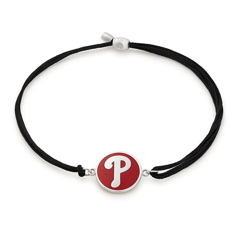 Philadelphia Phillies MLB Charm Pull Cord Bracelet