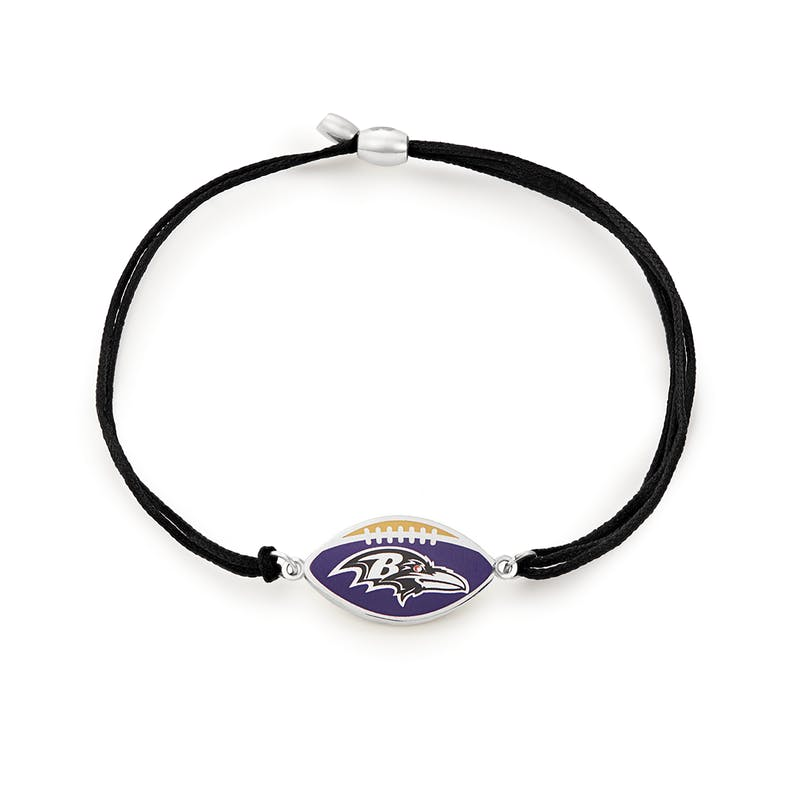 Baltimore Ravens NFL Charm Pull Cord Bracelet
