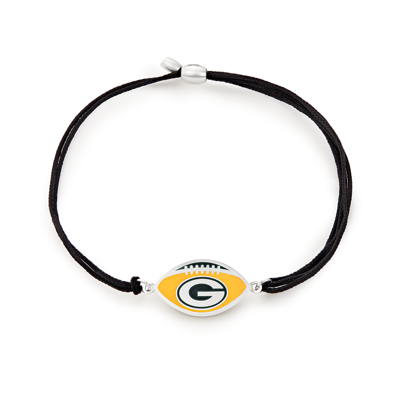 Green Bay Packers NFL Charm Pull Cord Bracelet