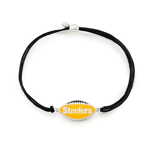 Pittsburgh Steelers NFL Charm Pull Cord Bracelet