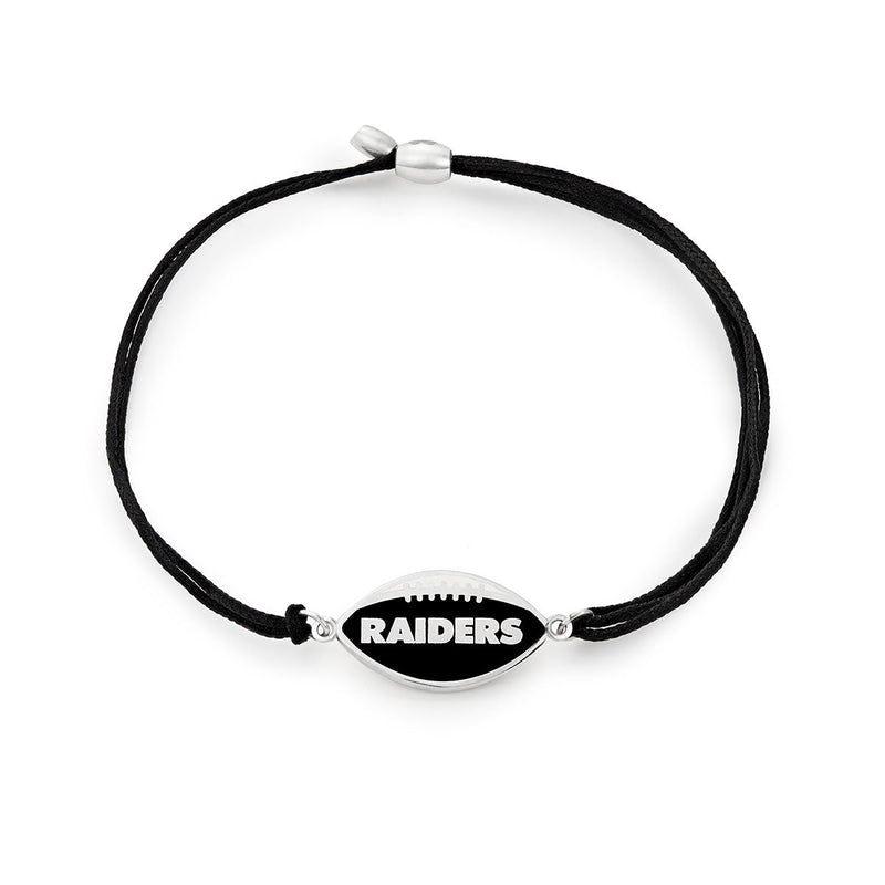 Las Vegas Raiders NFL Charm Pull Cord Bracelet