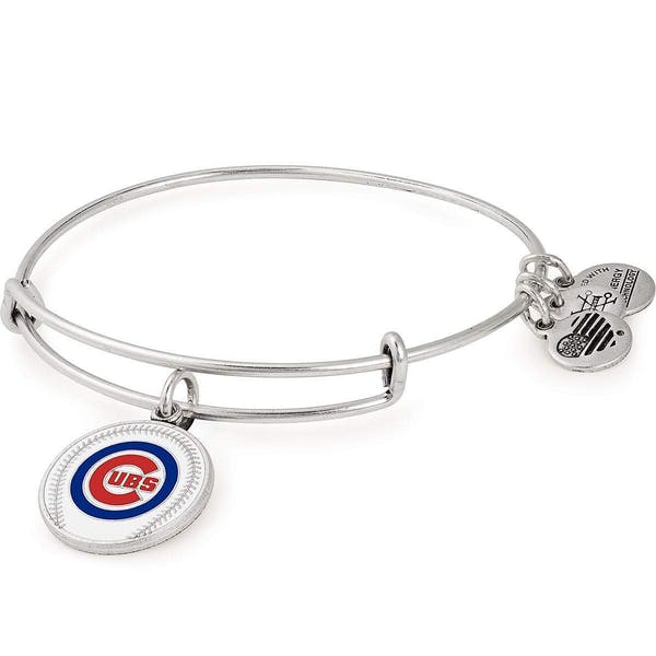 Chicago Cubs MLB Charm Bangle, Rafaelian Silver, Alex and Ani