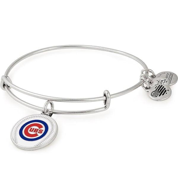 Chicago Cubs MLB Charm Bangle, Rafaelian Silver, Alex and Ani