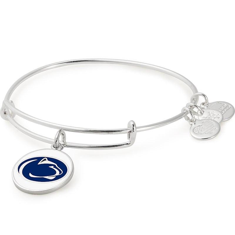 Pennsylvania State University Logo Charm Bangle, Shiny Silver, Alex and Ani