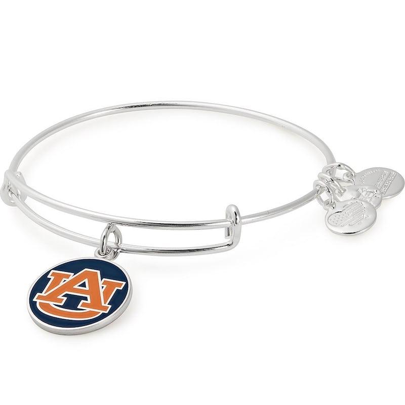 Auburn University Logo Charm Bangle, Shiny Silver, Alex and Ani