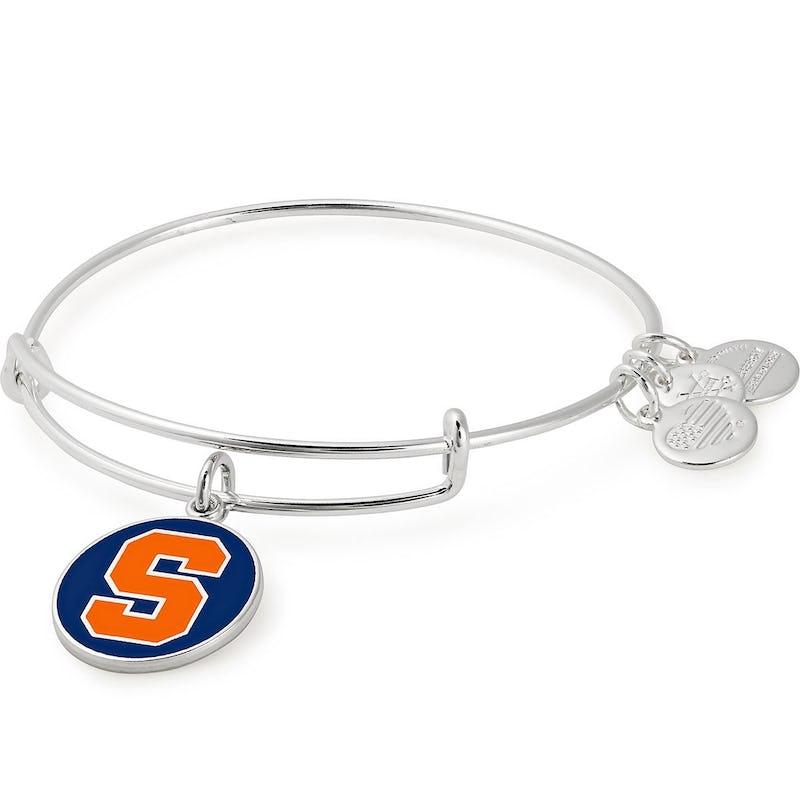 Syracuse University Logo Charm Bangle, Shiny Silver, Alex and Ani