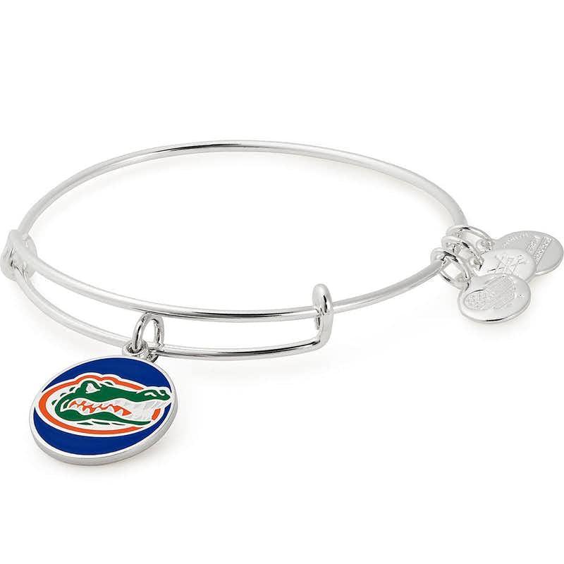 University of Florida Logo Charm Bangle, Shiny Silver, Alex and Ani