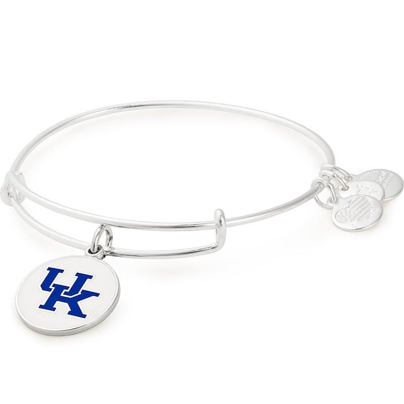 University of Kentucky Logo Charm Bangle, Shiny Silver, Alex and Ani