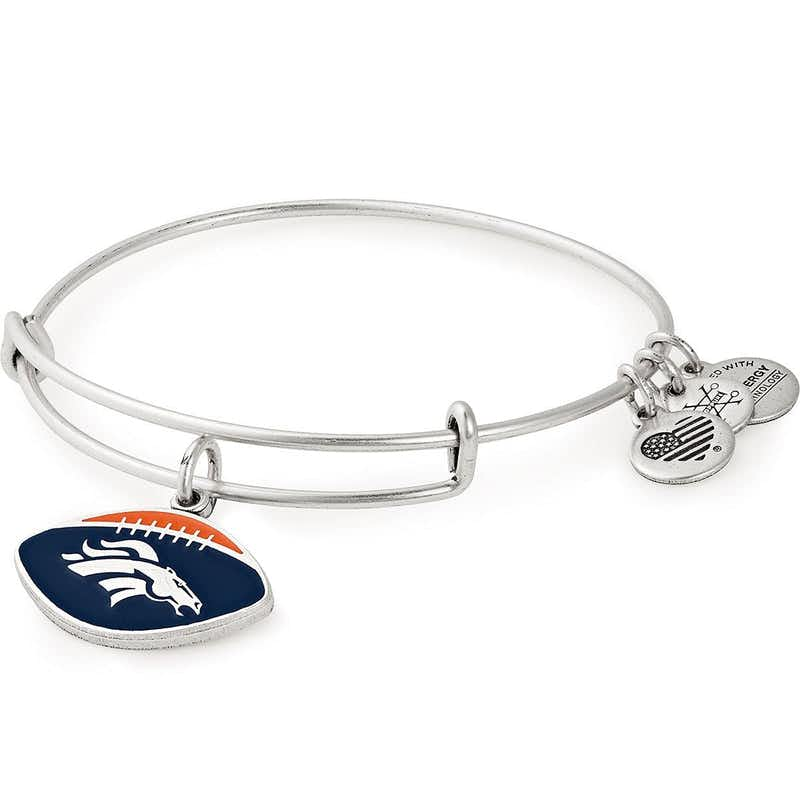 Denver Broncos NFL Charm Bangle, Rafaelian Silver, Alex and Ani