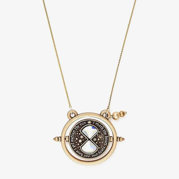 Harry Potter Time Turner Spinner Necklace, Rafaelian Gold, Alex and Ani