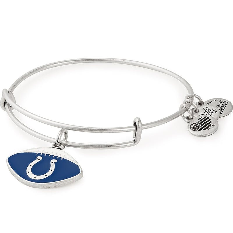 Indianapolis Colts NFL Charm Bangle, Rafaelian Silver, Alex and Ani