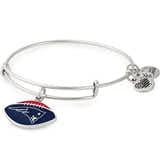 New England Patriots NFL Charm Bangle, Rafaelian Silver, Alex and Ani