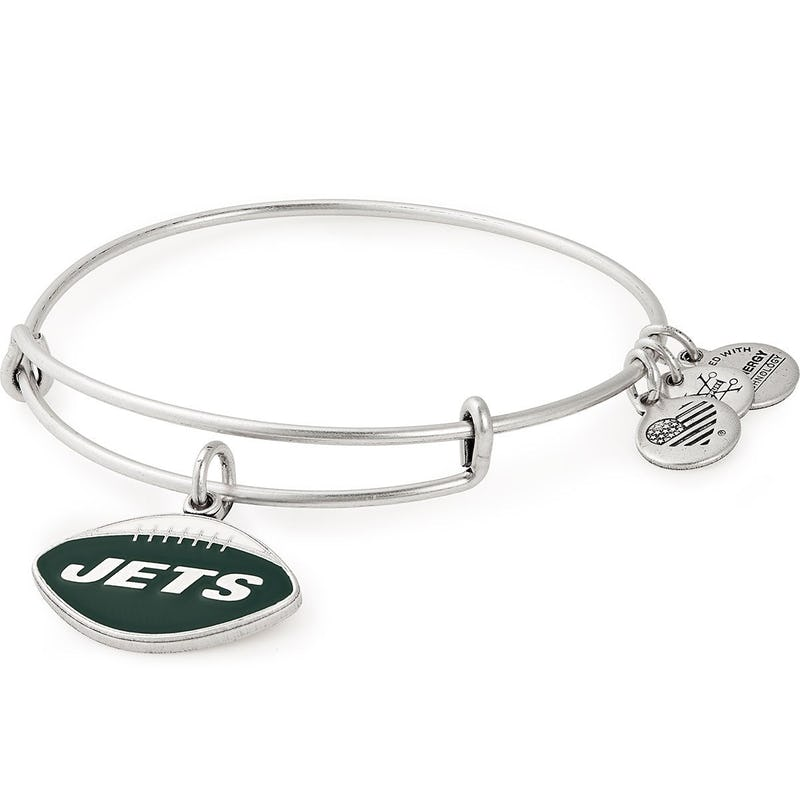 New York Jets NFL Charm Bangle, Rafaelian Silver, Alex and Ani