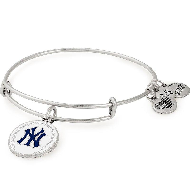 New York Yankees MLB Charm Bangle, Rafaelian Silver, Alex and Ani